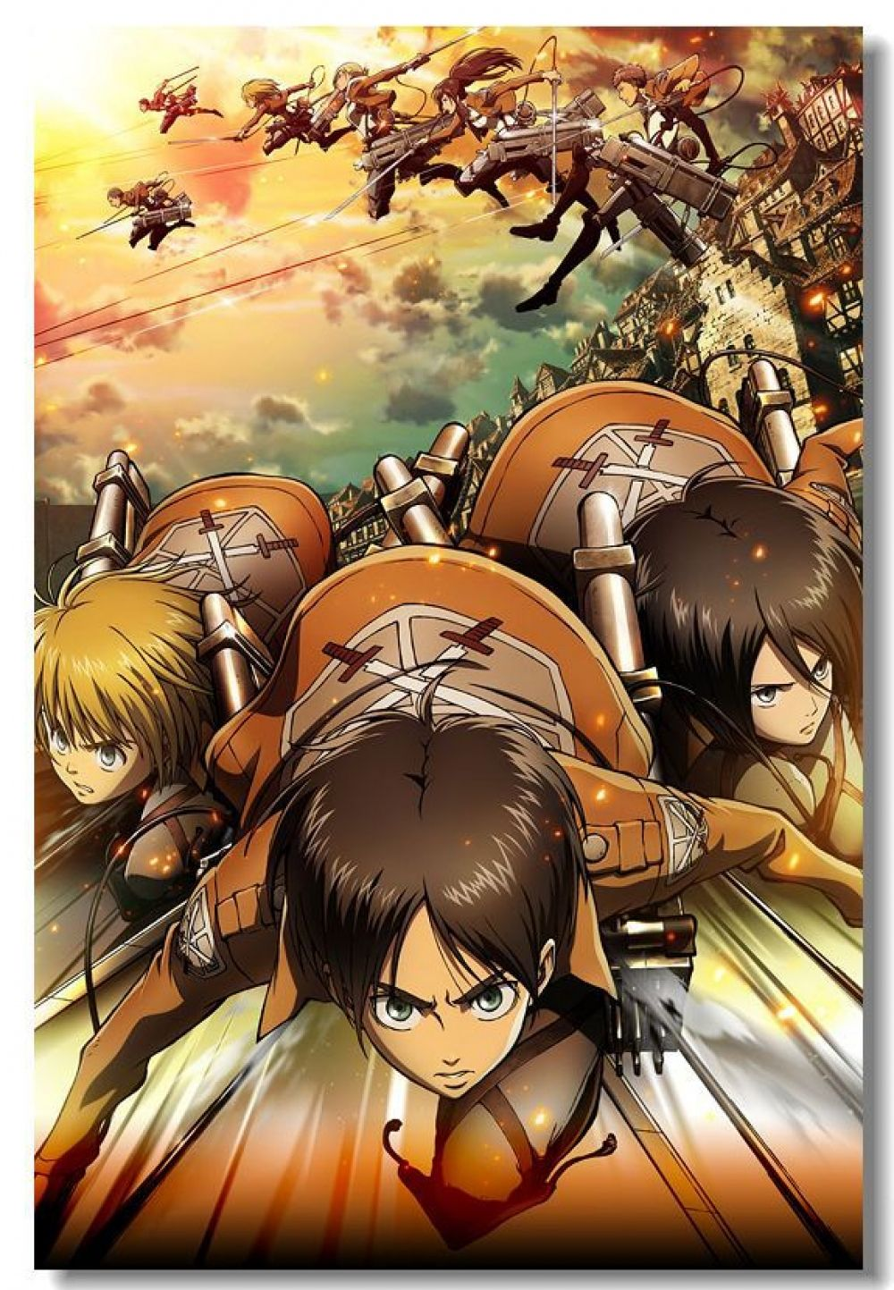 Attack On Titan Poster Wall Stickers Mural Bedroom Decoration 020