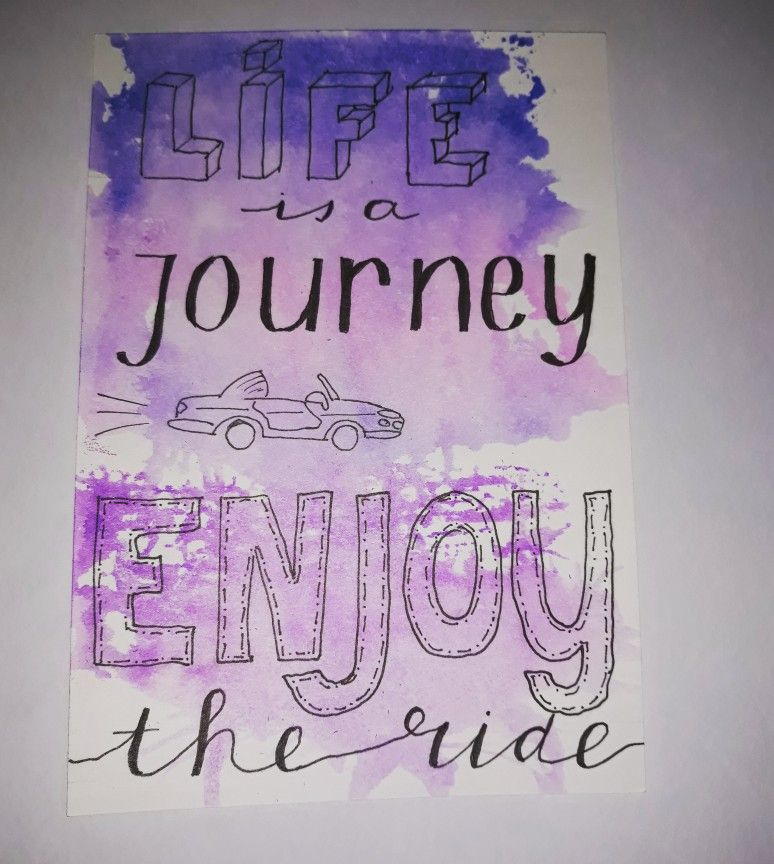 Life Is A Journey Enjoy The Ride Handlettering Handletteren Quote Letteren
