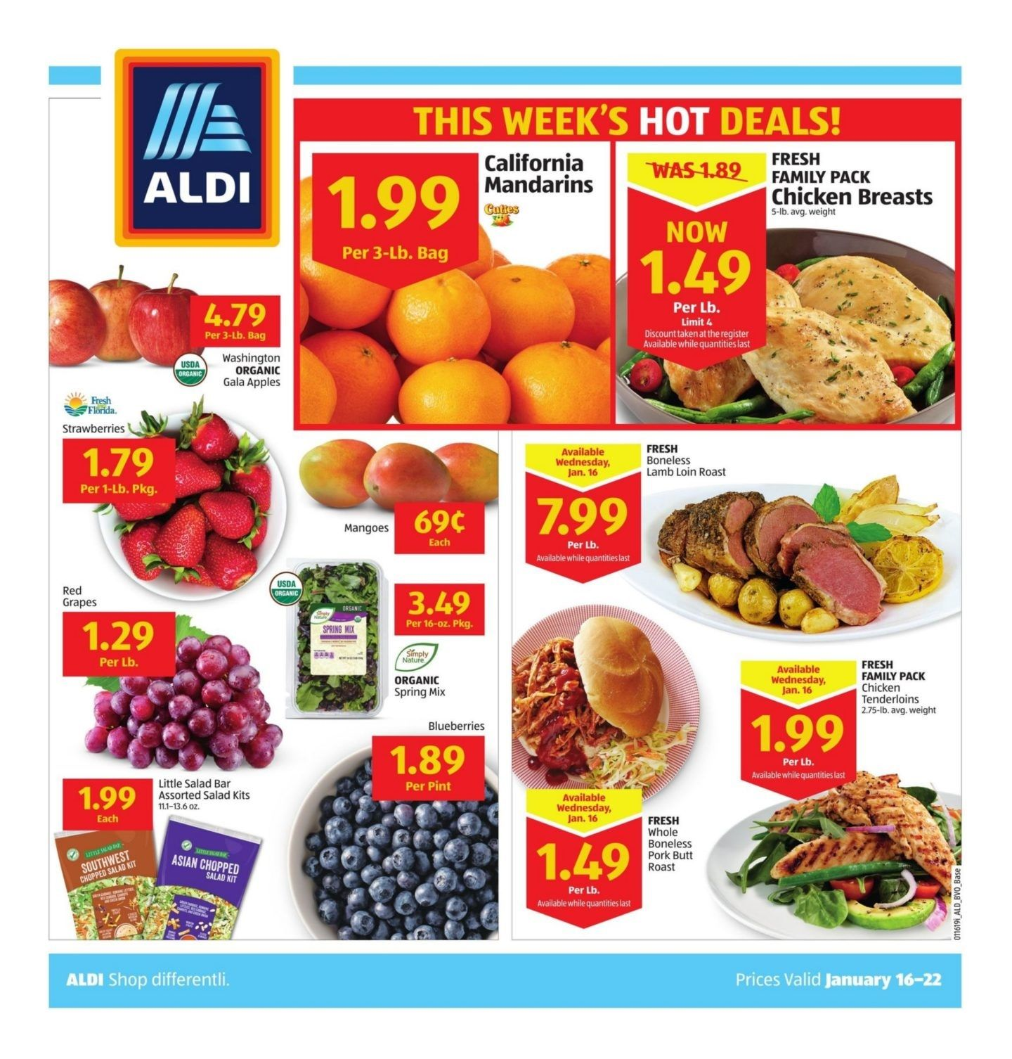 Aldi Weekly Ad January 16 January 22 2019 Aldi Bakery Menu Grocery