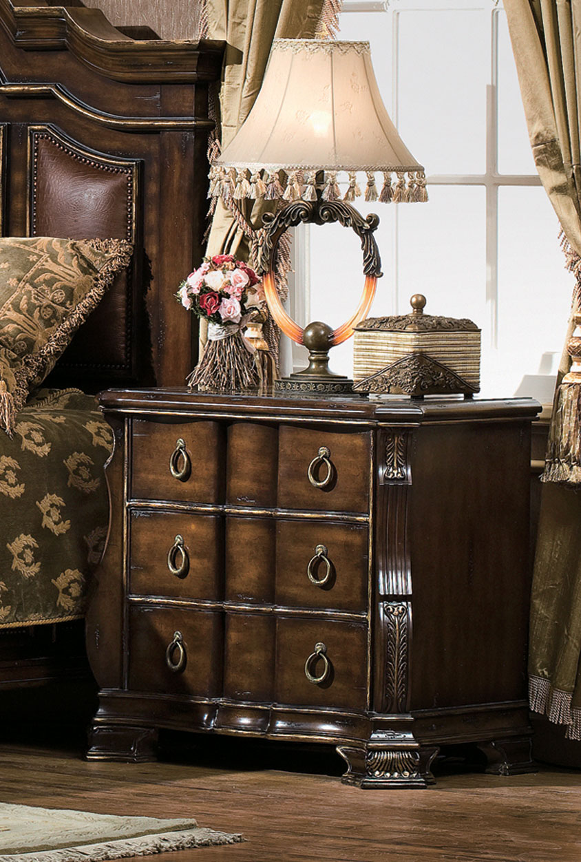 Rodeo Night Stand with Marble Top Inlay Orleans