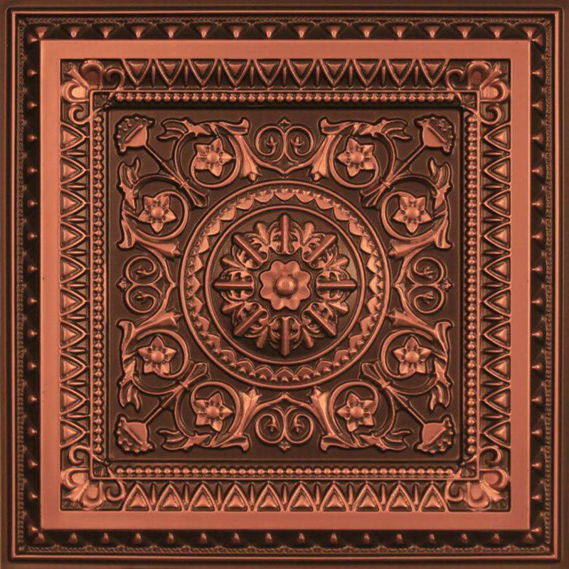 """Decorative Tin Tiles Magnificent La Scala  Faux Tin Ceiling Tile  24""""x24""""  #223  Ceilings Tiles Design Inspiration"""