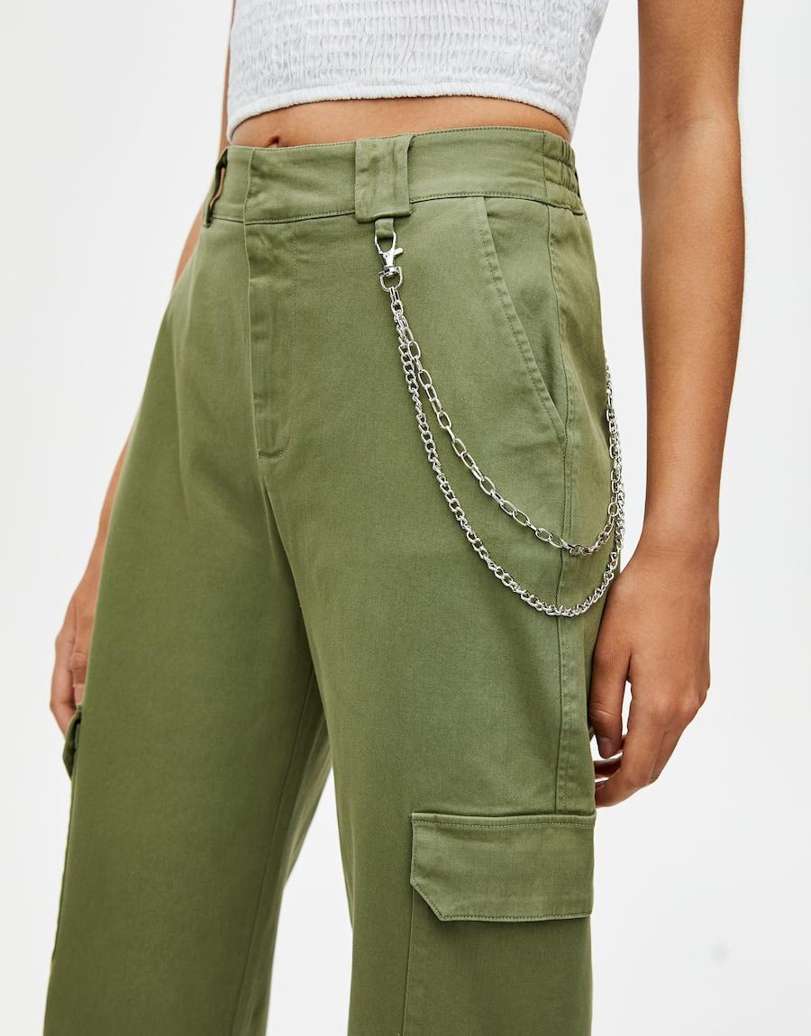 Pantalon cargo chino - pull&bear | Pantalon cargo ...
