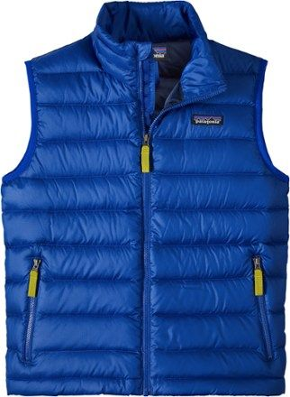 Patagonia Boys Down Sweater Vest Viking Blue Xl Products Vest