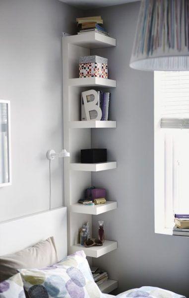 mensole-ikea-lack | Design camera da letto piccola, Idee per ...