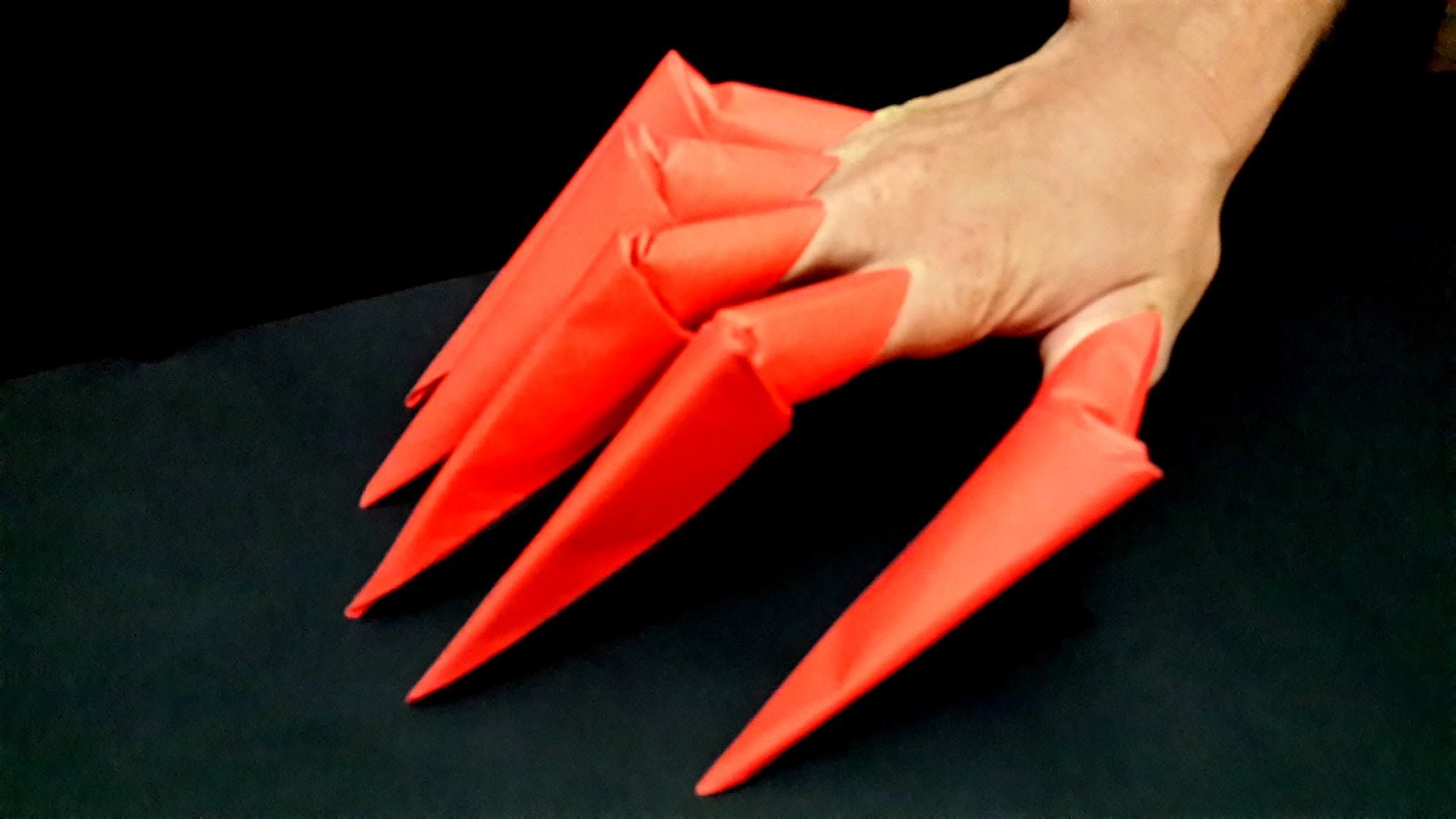 How to make origami claws | Origami claws, How to make origami ... | 1152x2048