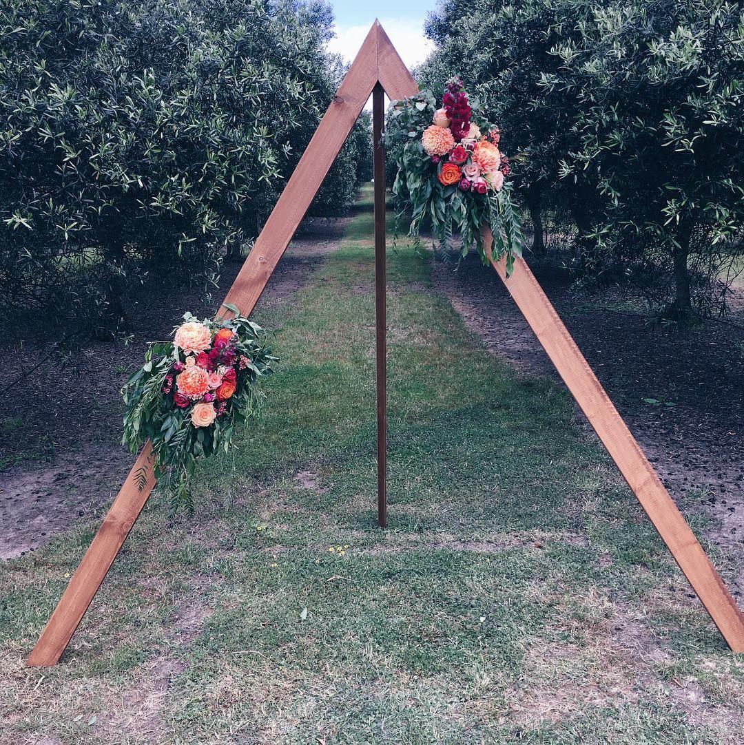 Triangle Wedding Arch: Triangle Wedding Arch With Wild Australian Flowers Find