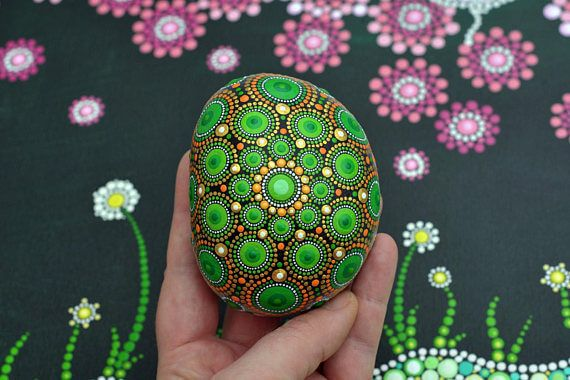 60+ DIY Mandala Stone Patterns is part of Mandala stones, Stone pattern, Mandala, Stone painting, Stone, Mandala print - The art of mandala stone doting is a great way to enjoy your crafting  Here is a list of pictures of beautiful mandala stone doting ideas