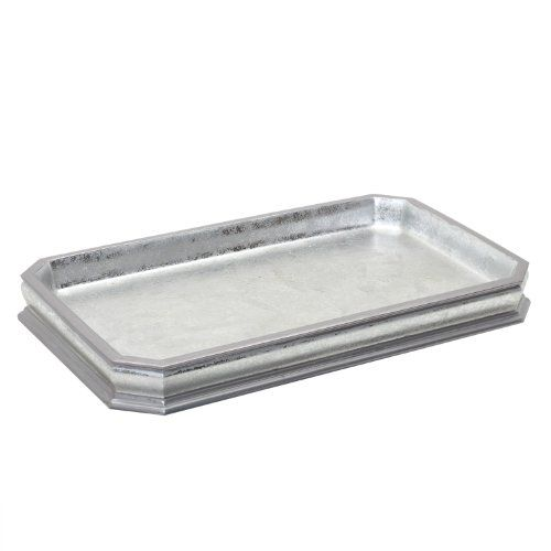 India Ink Glenwood Guest Towel Tray 8 By 12 Inch Silver India