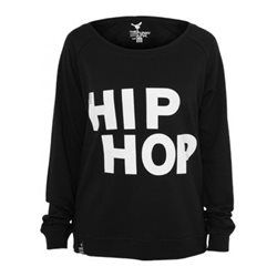 Sweat Crewneck léger URBAN DANCE Noir-Blanc Hip Hop Danse URBAN DANCE a562082037b2