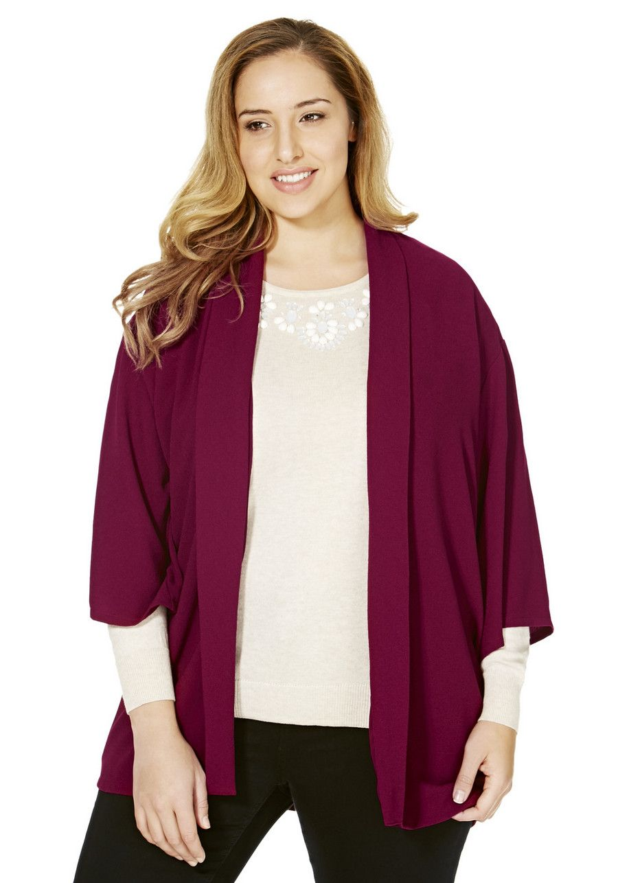 Clothing at Tesco | F&F True Textured Crepe Plus Size Duster ...