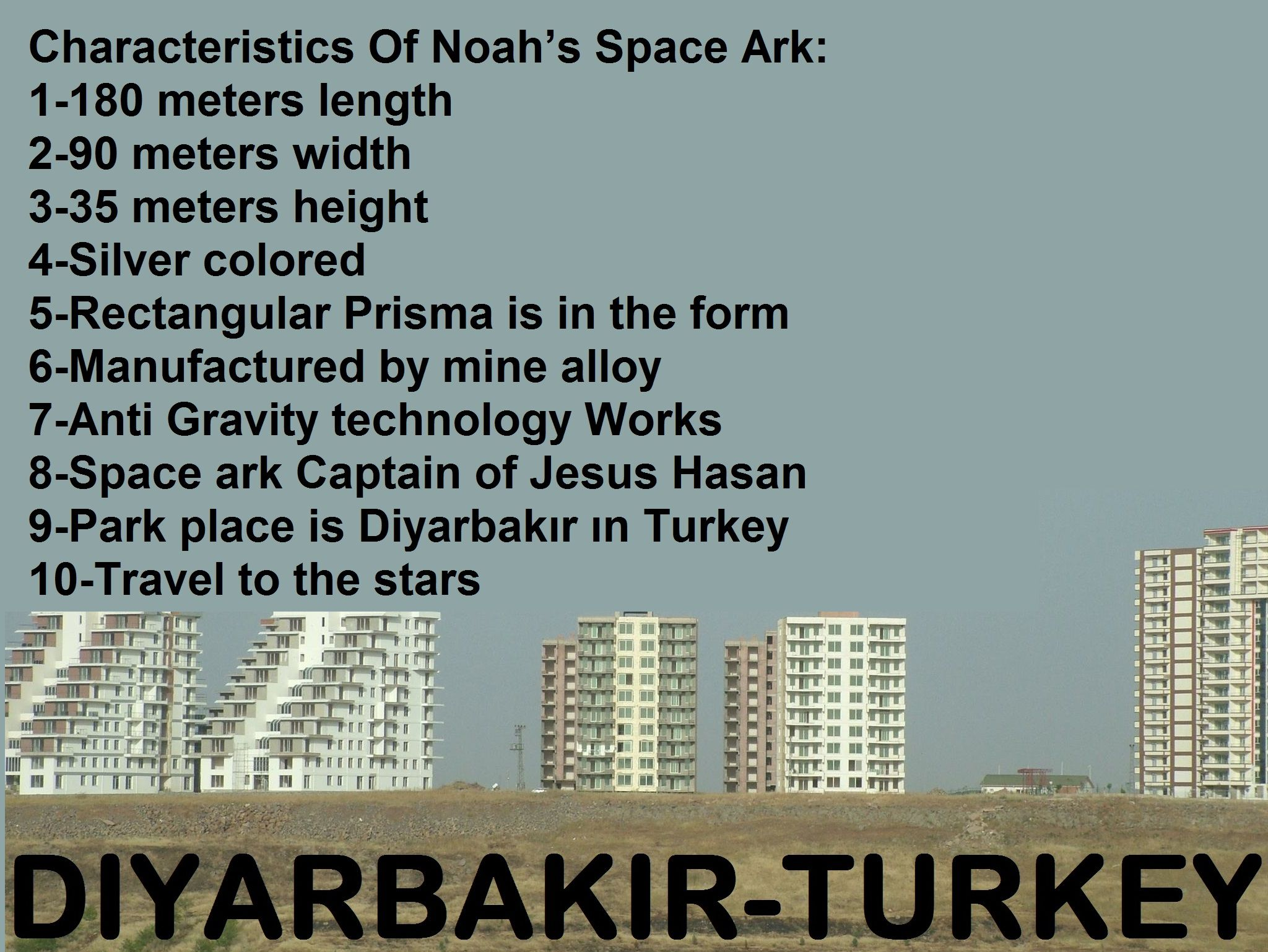 Characteristics Of Noah S Space Ark 1 180 Meters Length 2 90 Meters Width 3 35 Meters Height 4 Silver Colored 5 Rectangular Prisma Is In The Form 6 Manufa Akbas