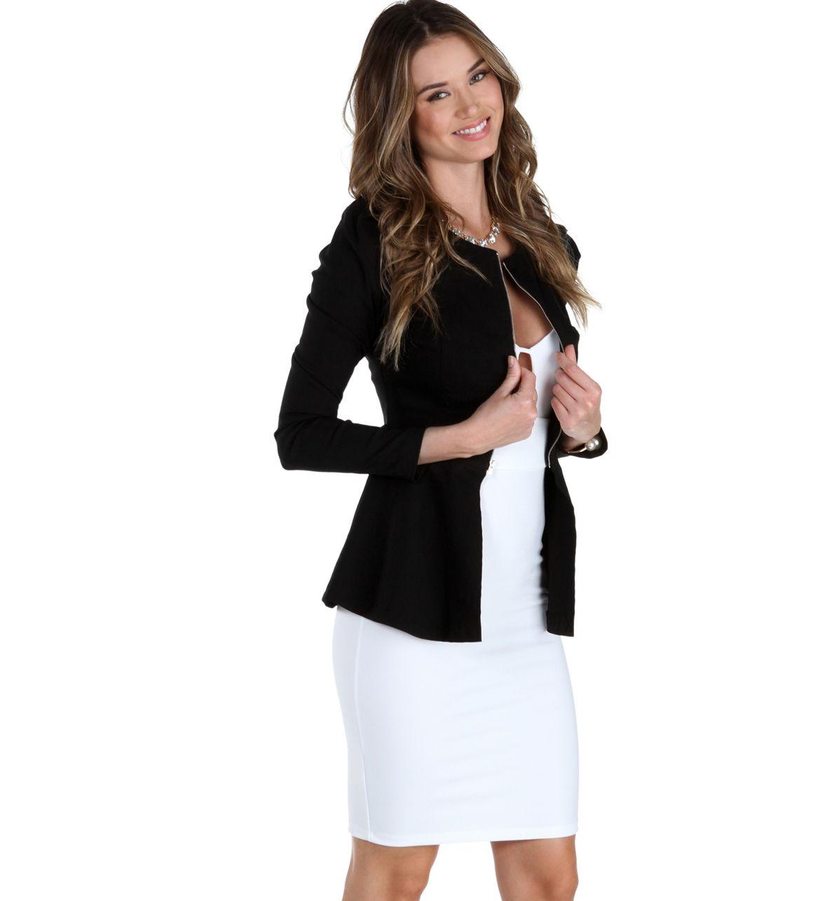 Black Peplum Jacket at WindsorStore
