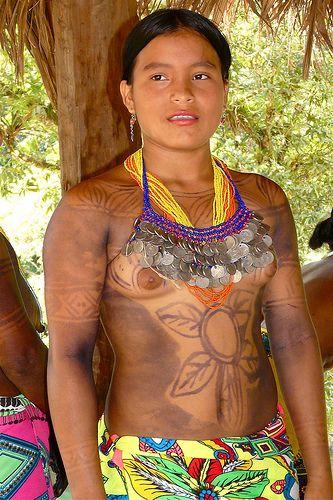 Panama - Chagres Park - Embera Puru Indianen  A Different -9246