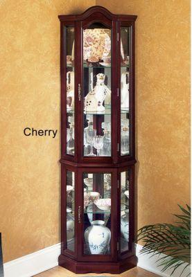 lighted corner curio cabinet | My Wishlist | Pinterest | Lights ...