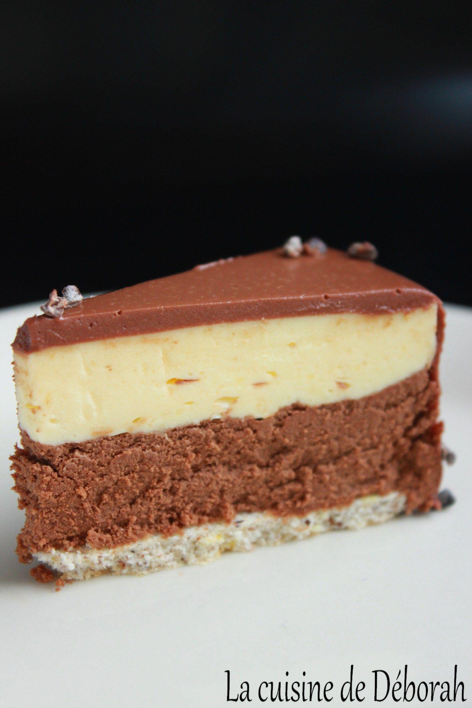 Entremets citron-chocolat - La cuisine de Déborah