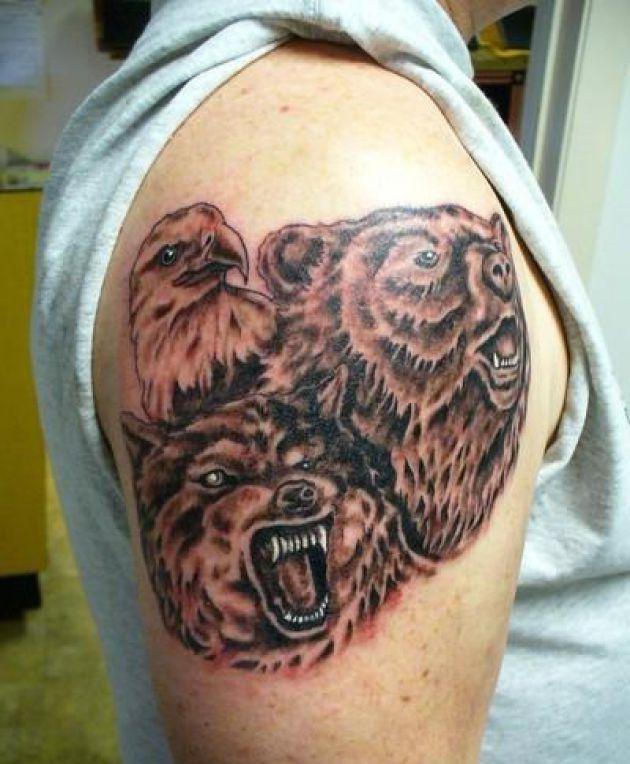 d968ed844 bear eagle female tattoo images wolf bear eagle female tattoo ...