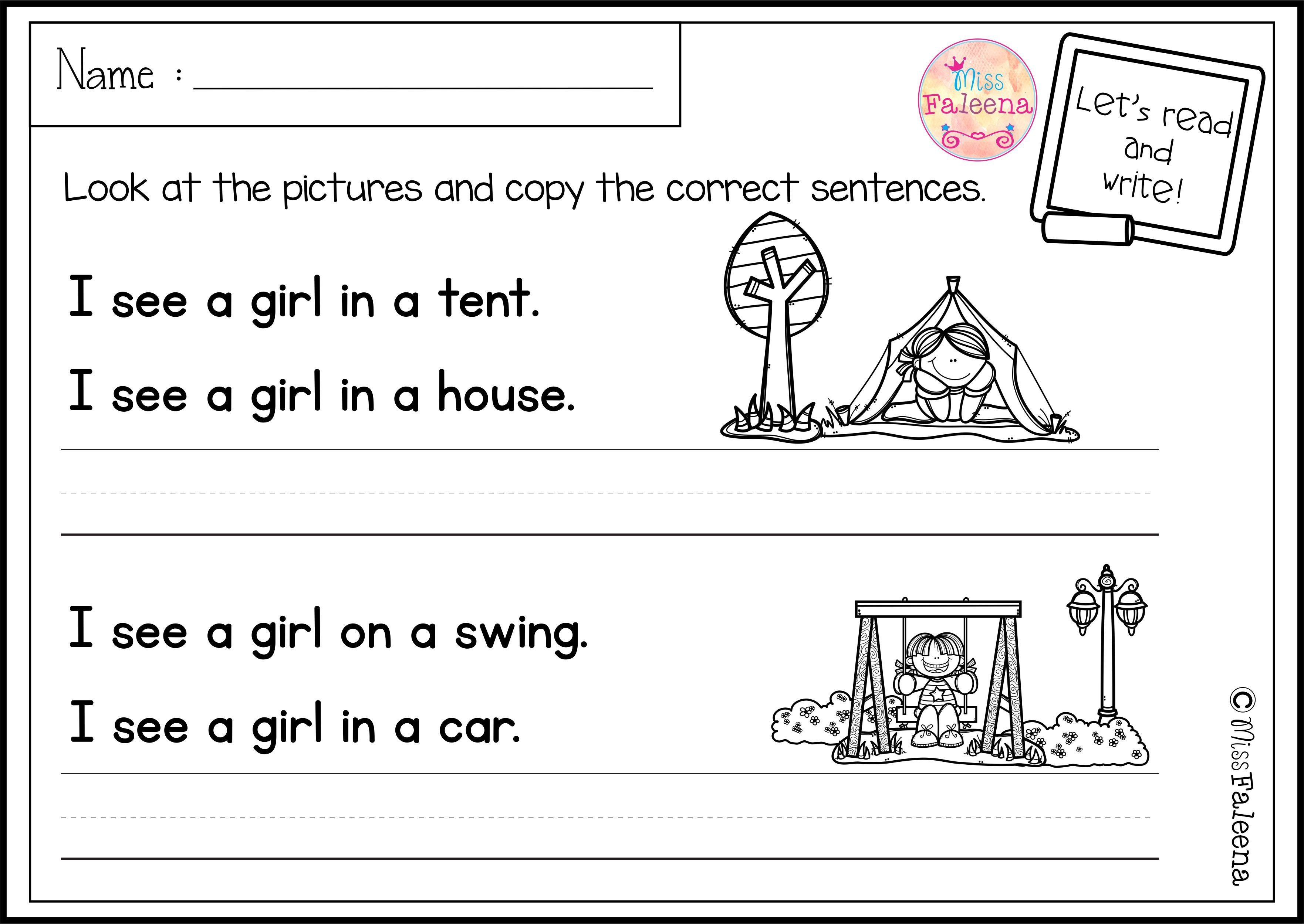 There Are 20 Pages Of Sentence Writing Worksheets In This Product These Pages Are Great For Sentence Writing First Grade Worksheets Kindergarten Lesson Plans [ 2500 x 3526 Pixel ]