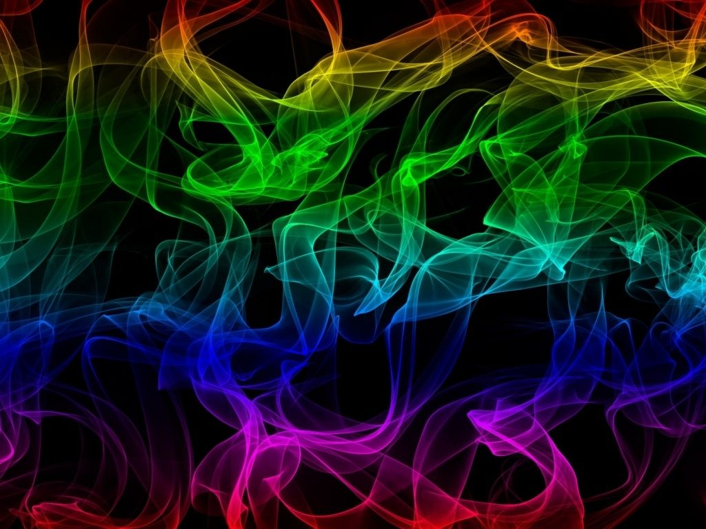 Abstract Rainbow Smoke Hd Desktop Wallpaper With Images