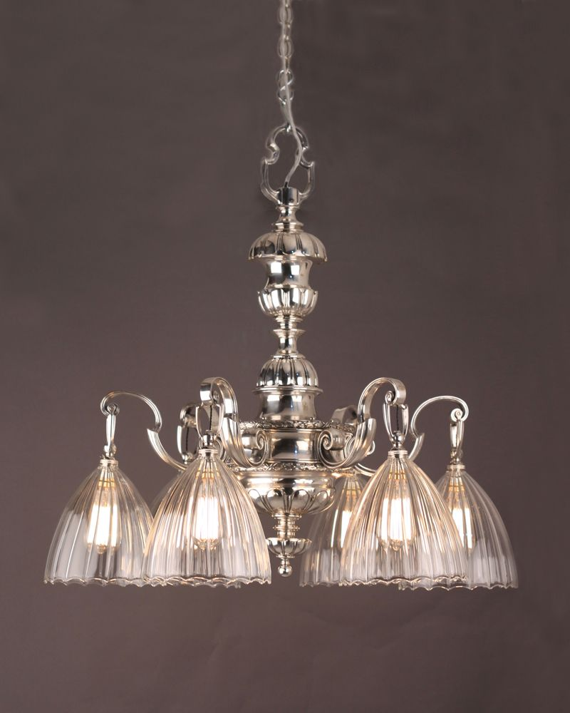 Fine quality substantial silver plate english edwardian chandelier chandelier lighting fine quality substantial silver plate english edwardian chandelier mozeypictures Gallery