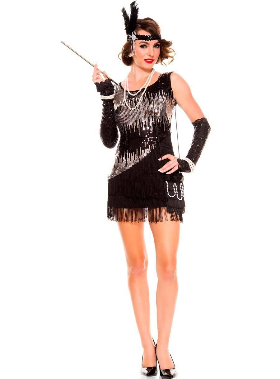 Womens 1920s flapper dress fancy dress costume adult flapper dress - Sexy Fringe Flapper Dress 4r1517 Free Shipping Hot Sale Sequin Flapper Costume Halloween Costumes Adult Sexy