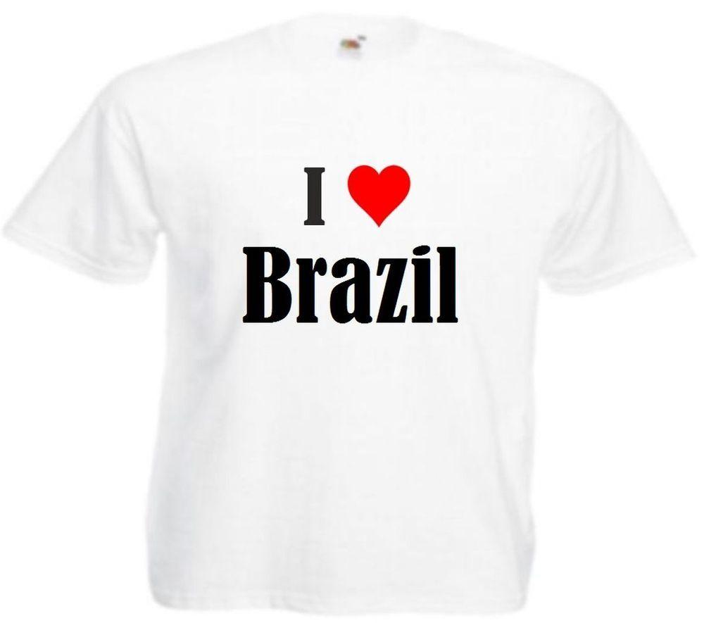 "T-Shirt ""I Love Brazil"""