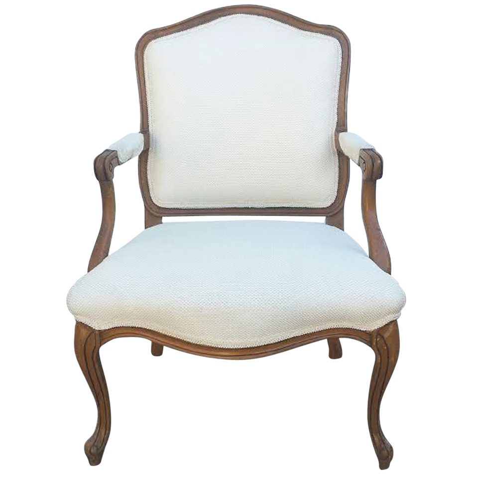 French armchair in louis xv style on chairish com