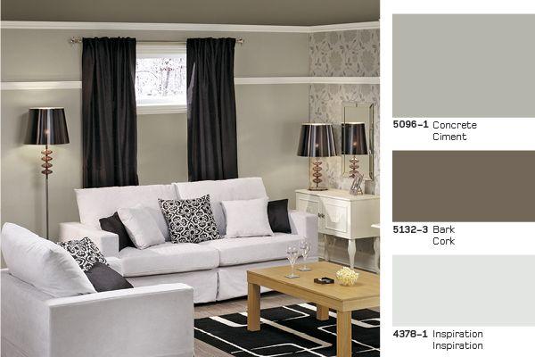 The perfect #palette for your #basement La palette parfaite pour - peindre du ciment au sol