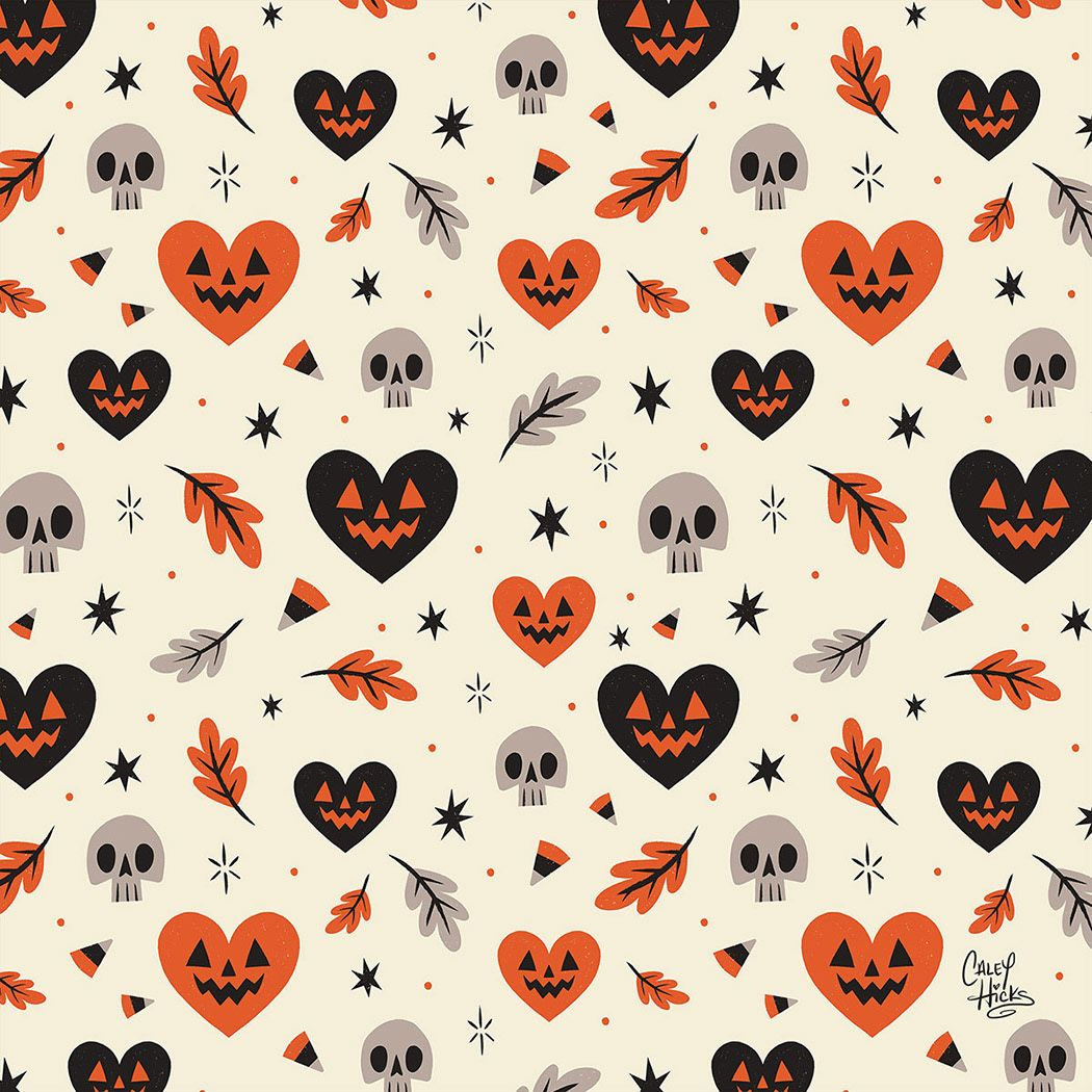 A pattern celebrating the spookiest time of year! #falliphonewallpaper