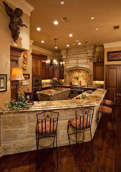 Breakfast bar texas cowboy pinterest cocinas casas for Diseno de cocina francesa