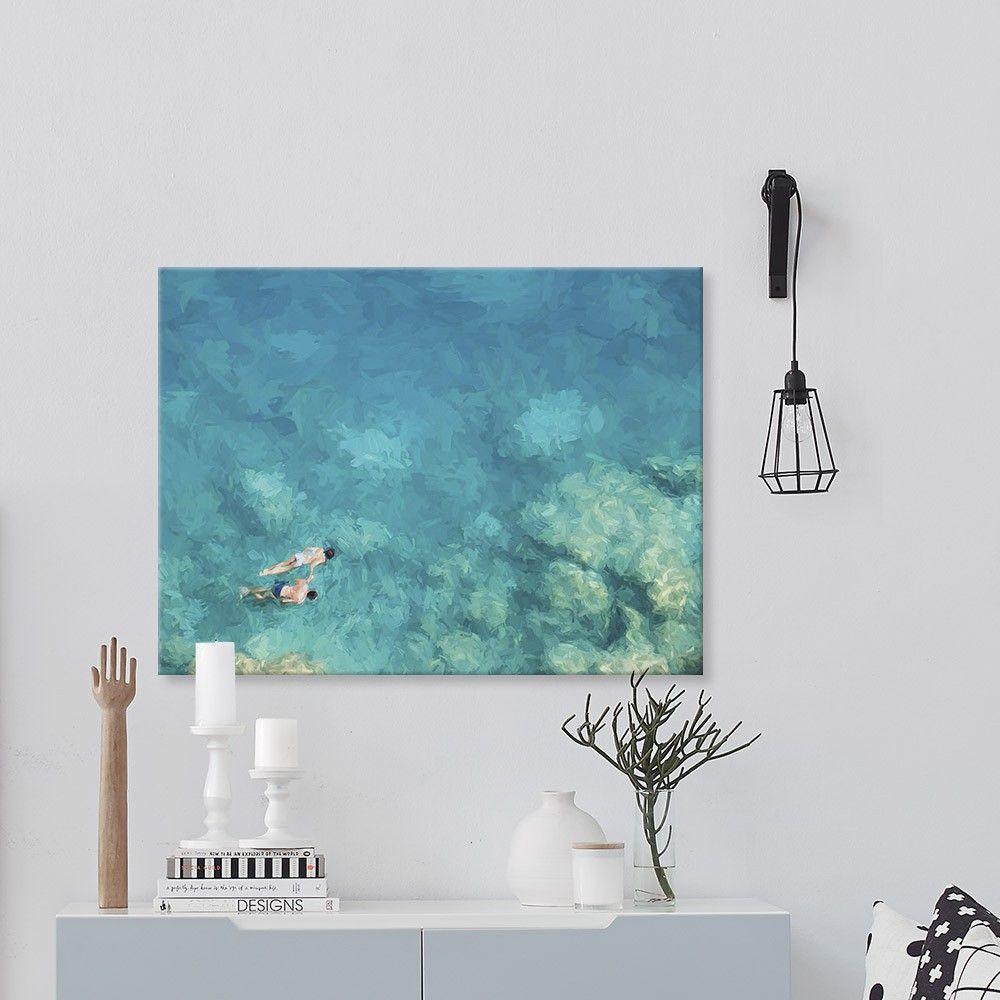 Azure Canvas Wall Art