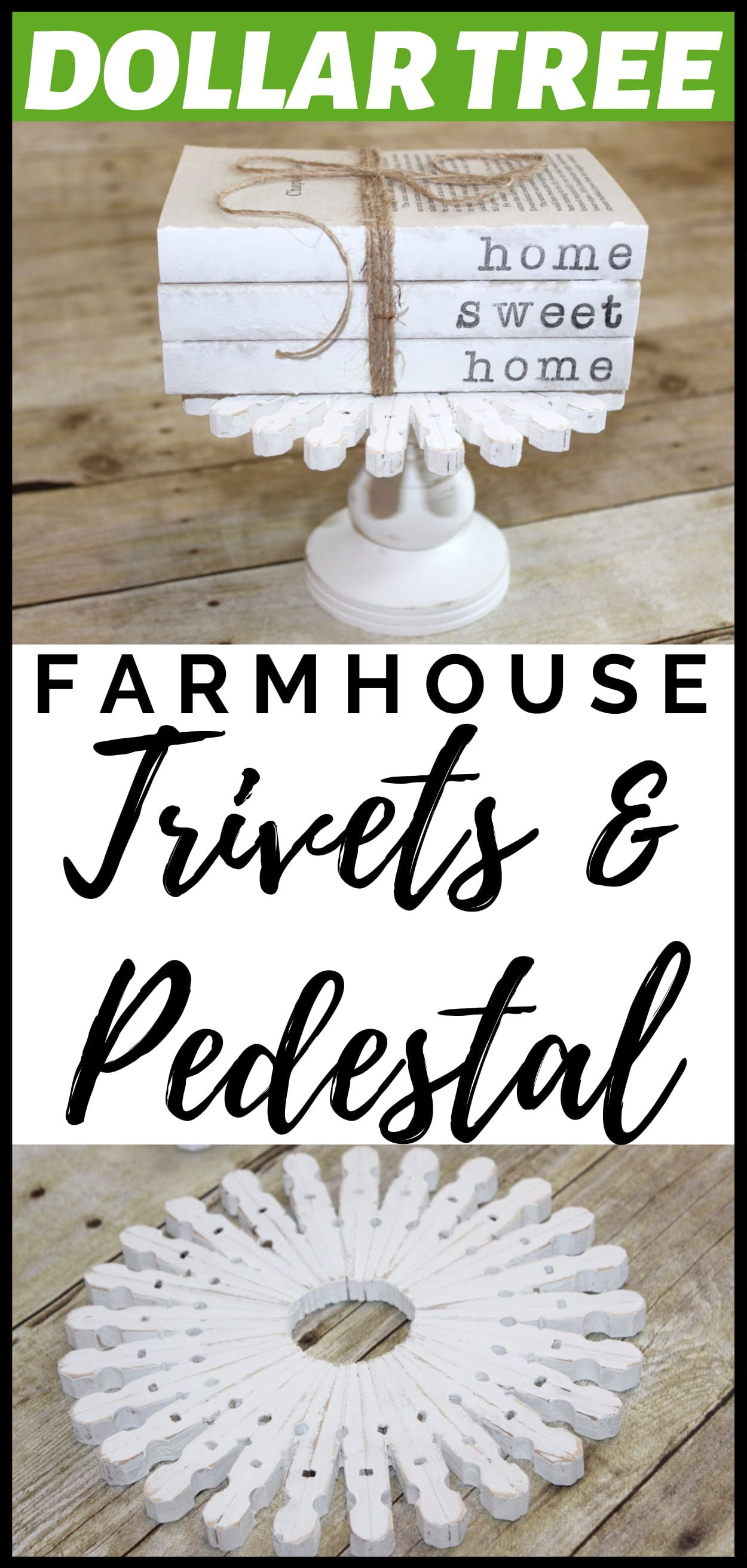 DIY Dollar Tree Trivets and Pedestal