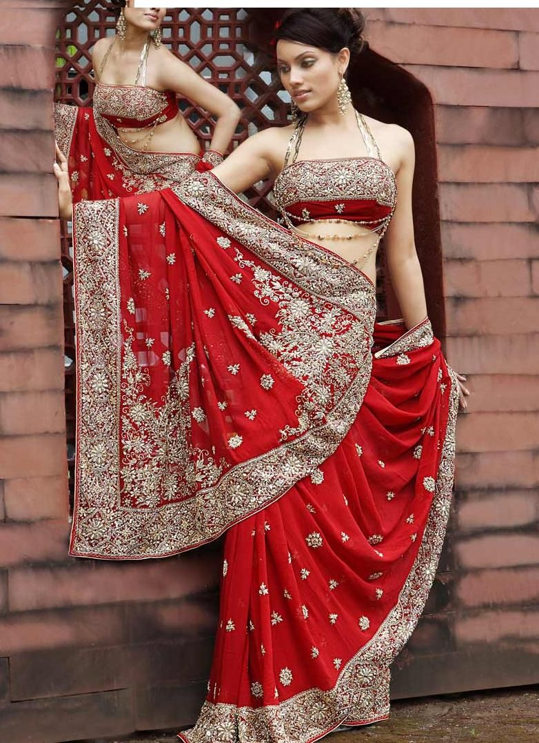 Red Indian Wedding Dress Saree