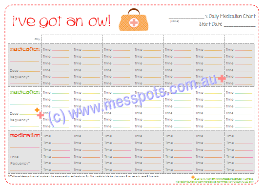 archive pin free printable daily medication chart to keep track of