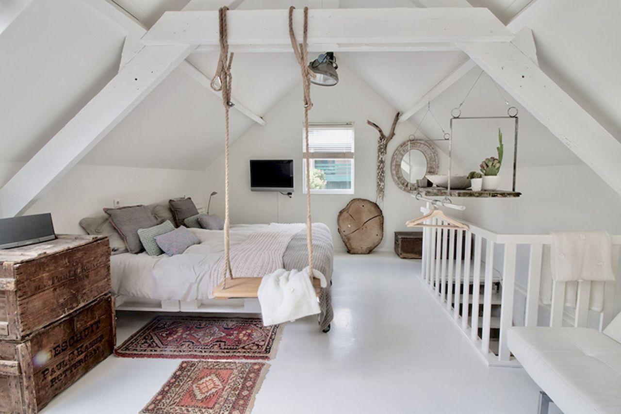 Cozy attic loft bedroom design & decor ideas (10) - HomeSpecially