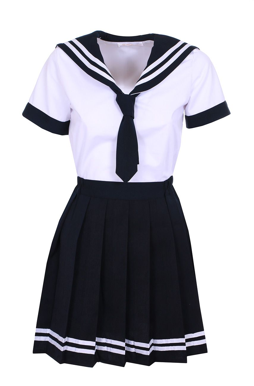 Nouveau Produit White And Blue Black Japanese Schoolgirl Outfit With Blue Tie Cosplay Vous Aimez Girls Sailor Dress Kpop Fashion Outfits Cosplay Outfits