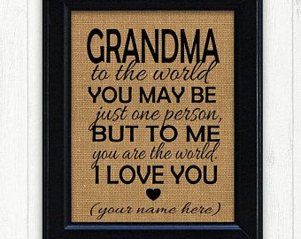 Grandmother Gift Unique Idea Grandma Birthday Ideas For