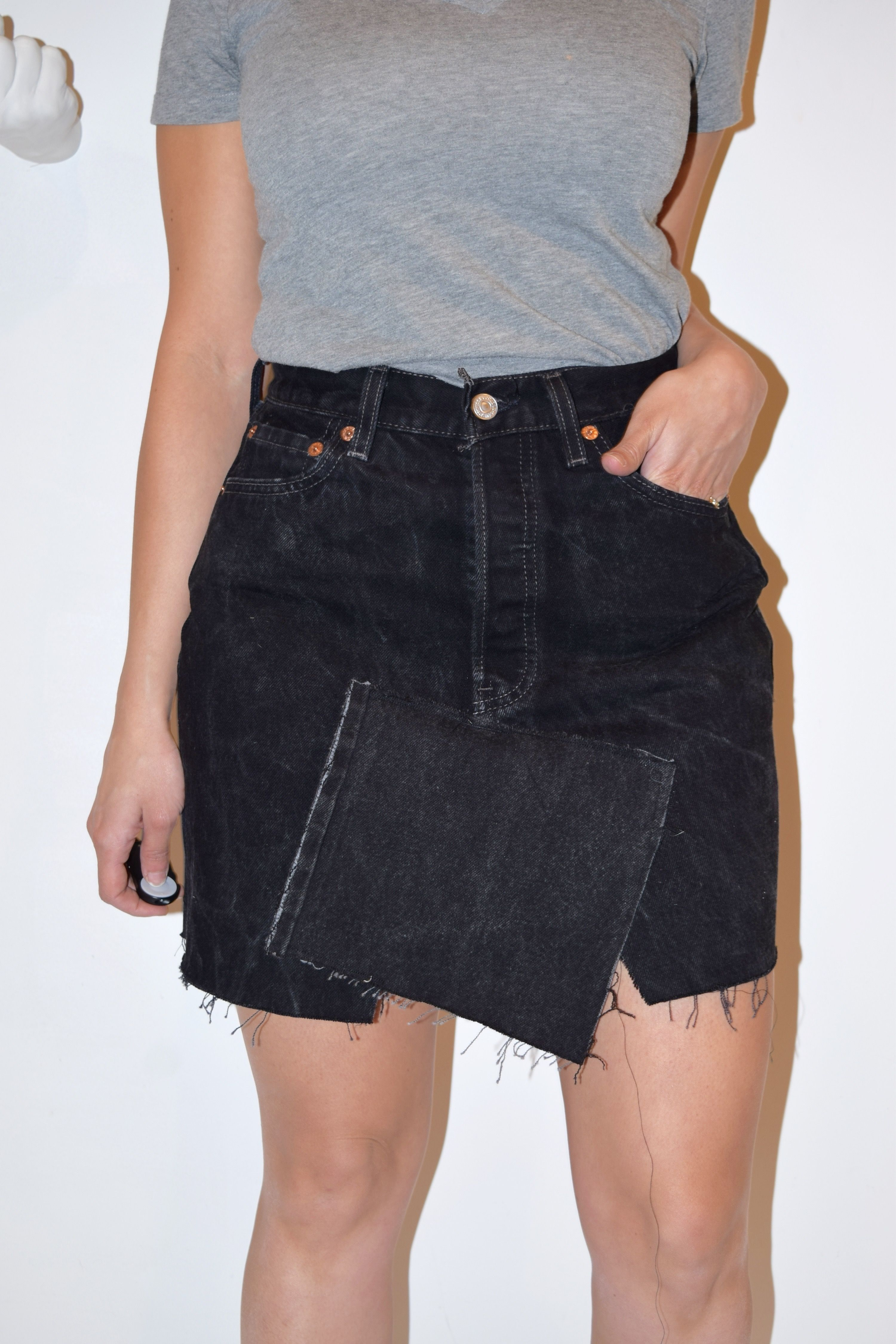 2019 year for lady- Long Levi denim skirts pictures