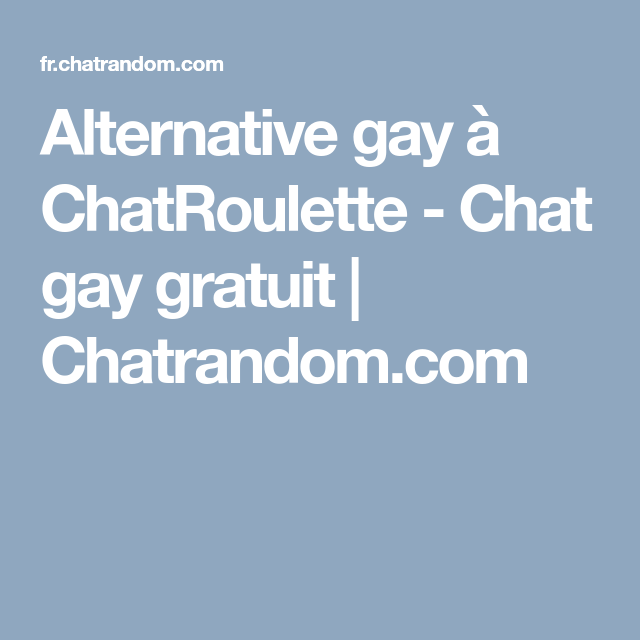 chat gay gratuis