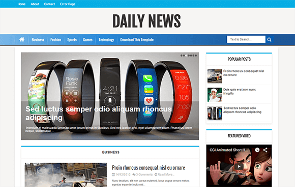 Daily news blogger templates pinterest daily news and template daily news pronofoot35fo Gallery