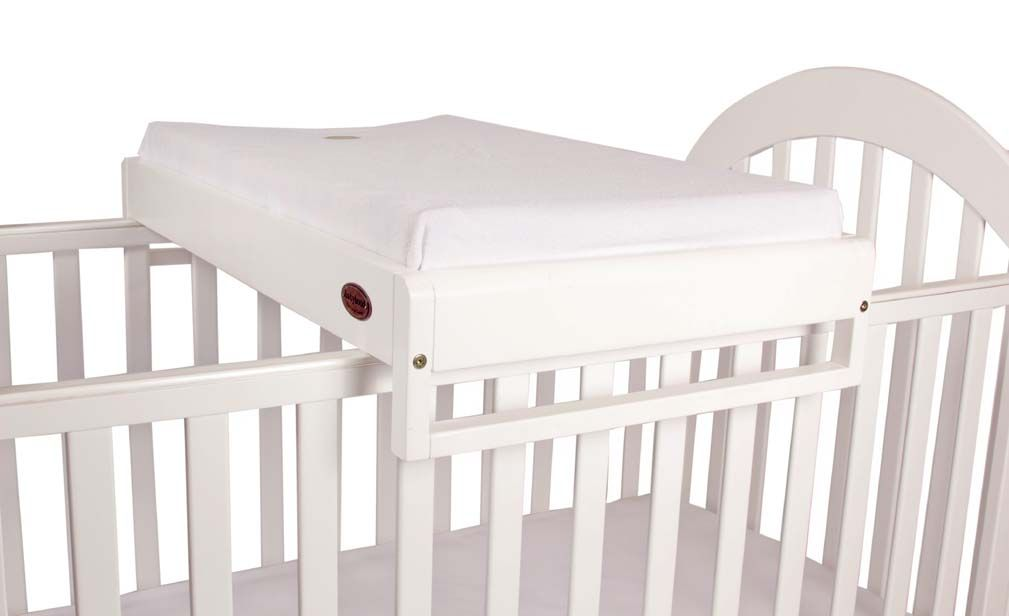 BEDDING SQUARE // CHANGE TABLE ATTACHMENT White Cot Top Changer ...