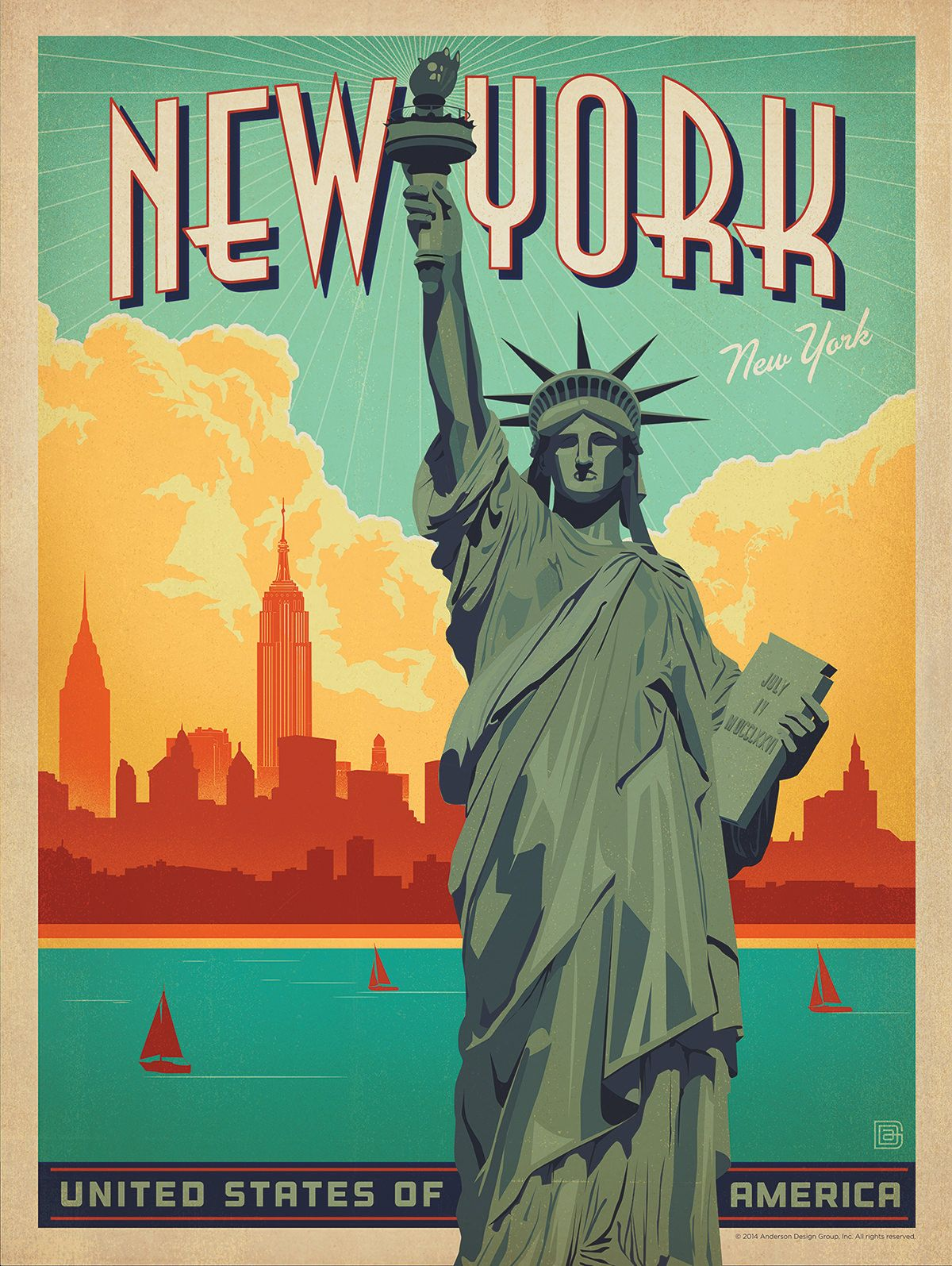 Poster design new york - Anderson Design Group Studio Store