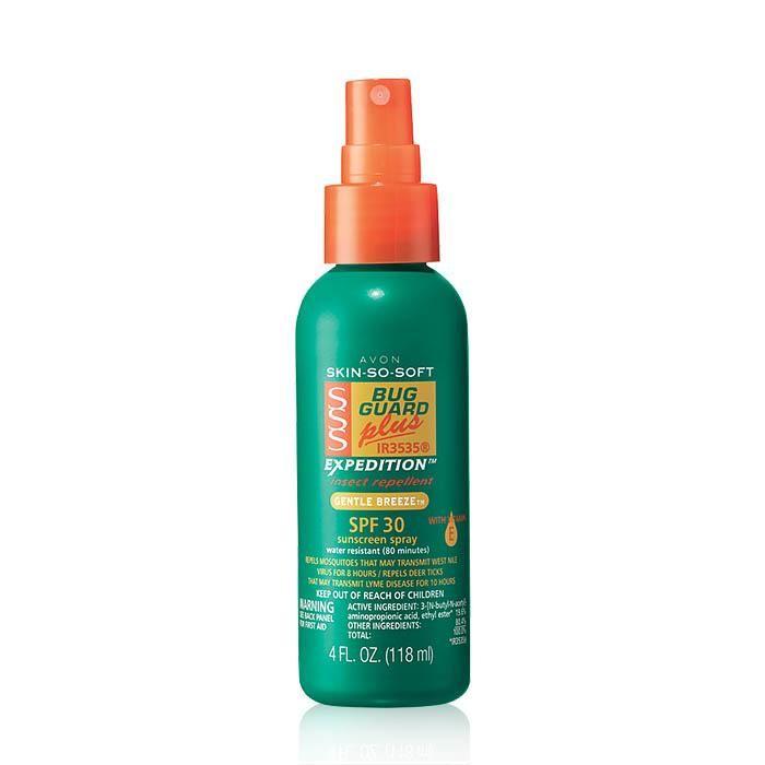 Skin So Soft Bug Guard Plus Ir3535 Expedition Spf 30 Pump Spray Avon Protector Solar Maquillaje Coreano
