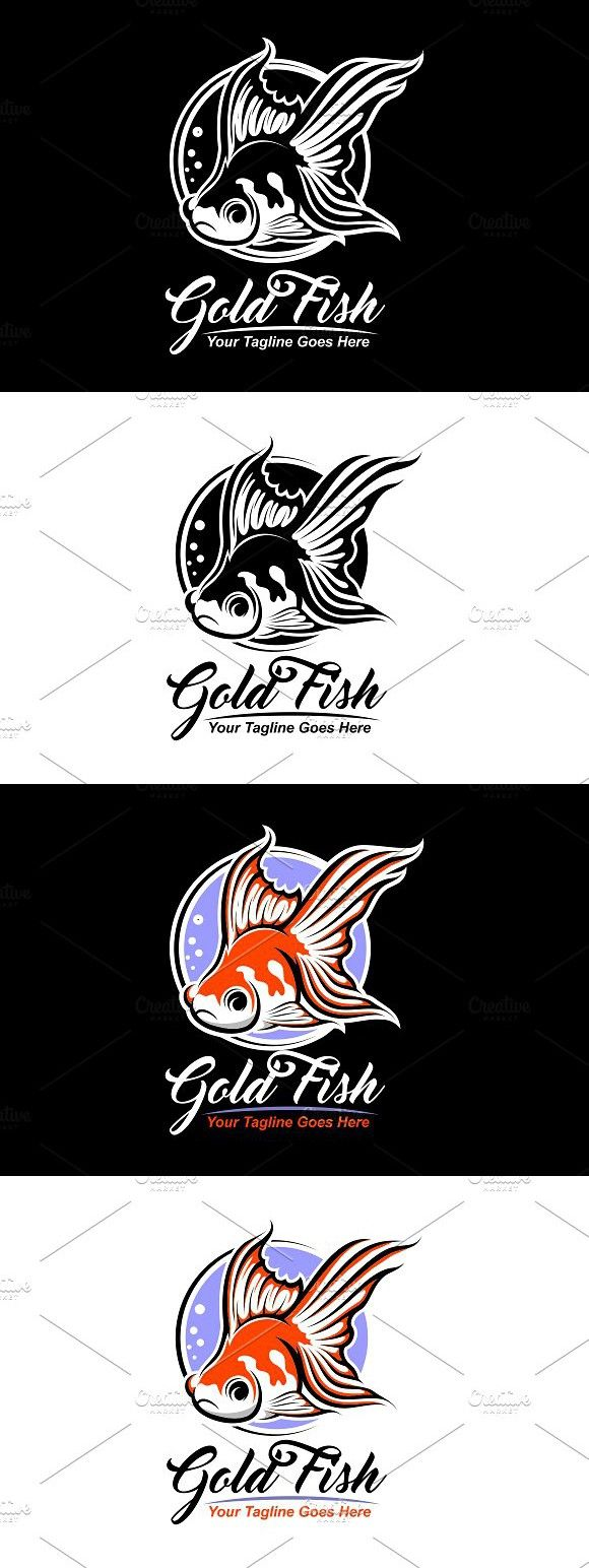 Goldfish Logo Branding Resources Logo Templates Web Design Resources