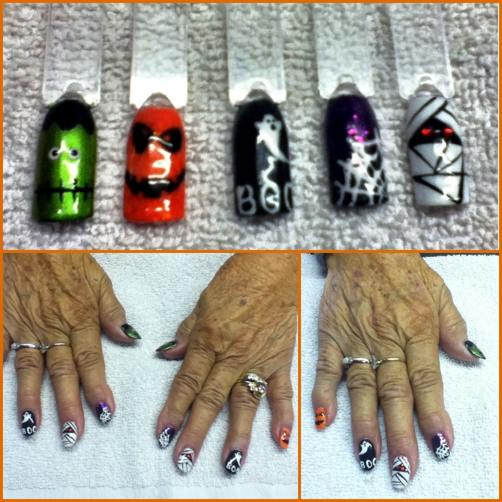 Halloween shellac nail art | Shellac nail art, Nail games ...