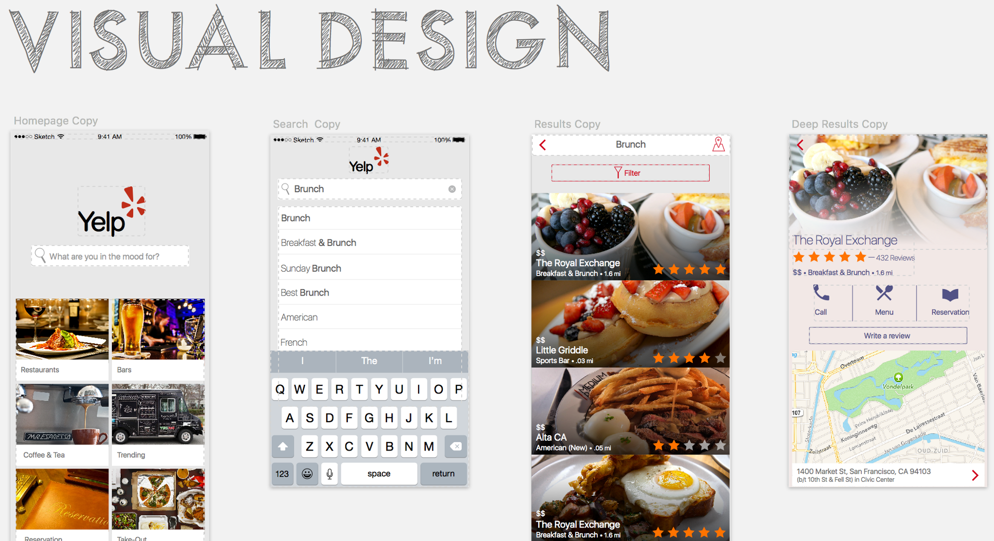 An Unsolicited App Redesign Yelp Design, App, Brunch