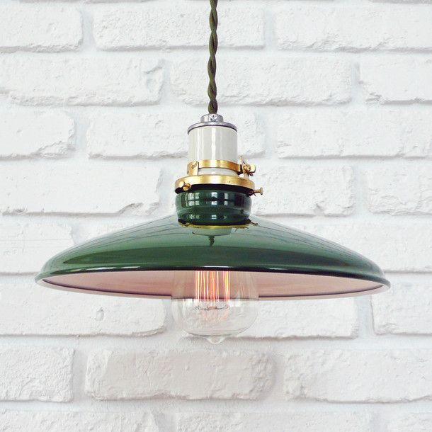"""Mott Lamp 10"""" Green by Manhattan Project Design Shop"""