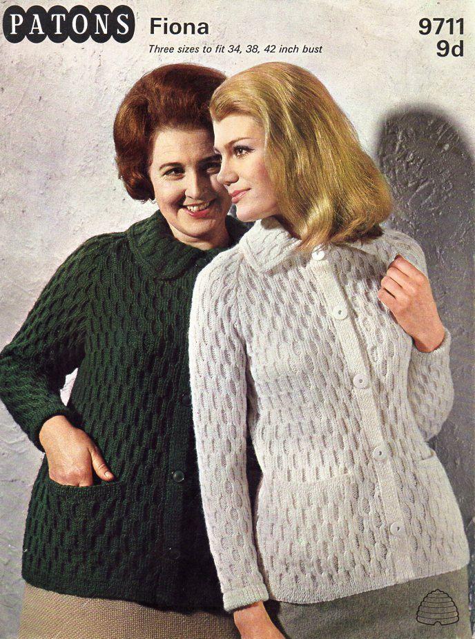 ab9043b1f womens knitting pattern pdf womens jacket ladies collared cardigan ...