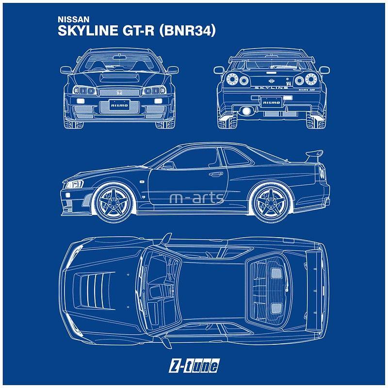 Encontrado No Bing Em Www Redbubble Com Nissan Gtr Skyline Skyline Gtr Skyline Gtr R34
