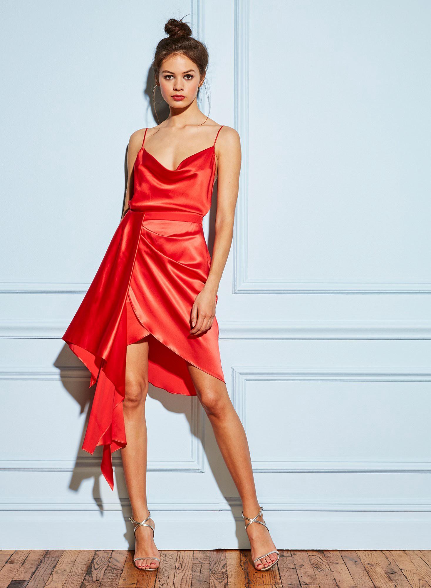 d341699f5cbd Fleur Du Mal Cowl Neck Spaghetti Strap Cami - xs Red | Products ...