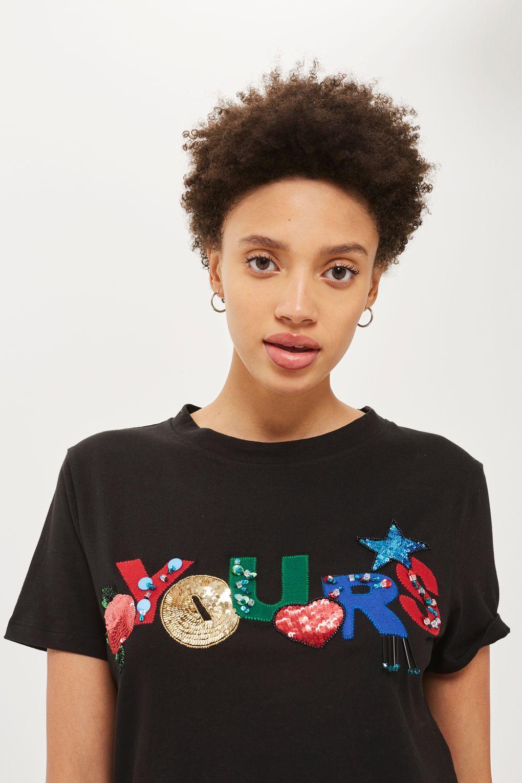 Yours' Embellished Slogan T Shirt in 2020 | Fashion, Fashion